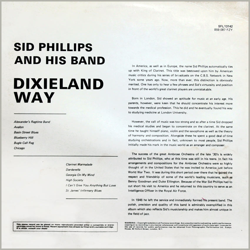 Sid Phillips and his Band - Dixieland Way
