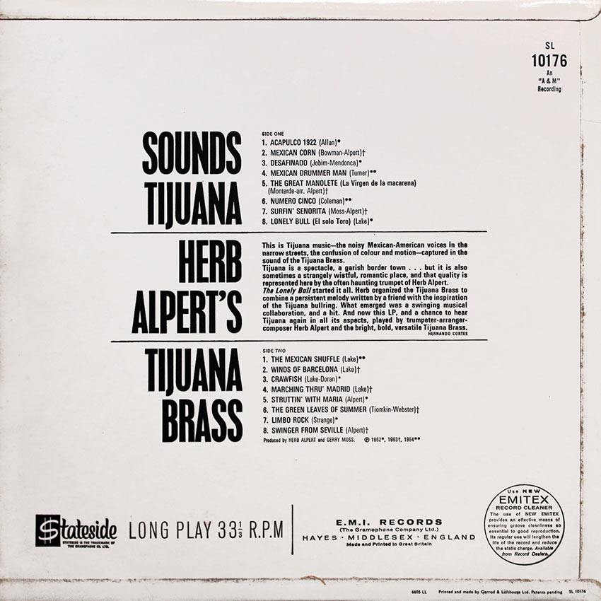 Herb Alpert's Tijuana Brass - Sounds Tijuana