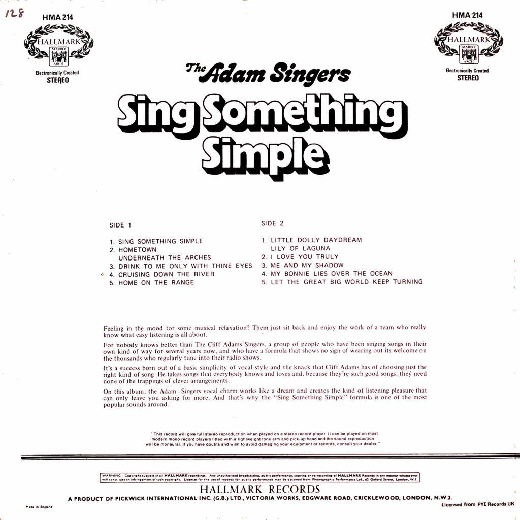 The Adams Singers - Sing Something Simple