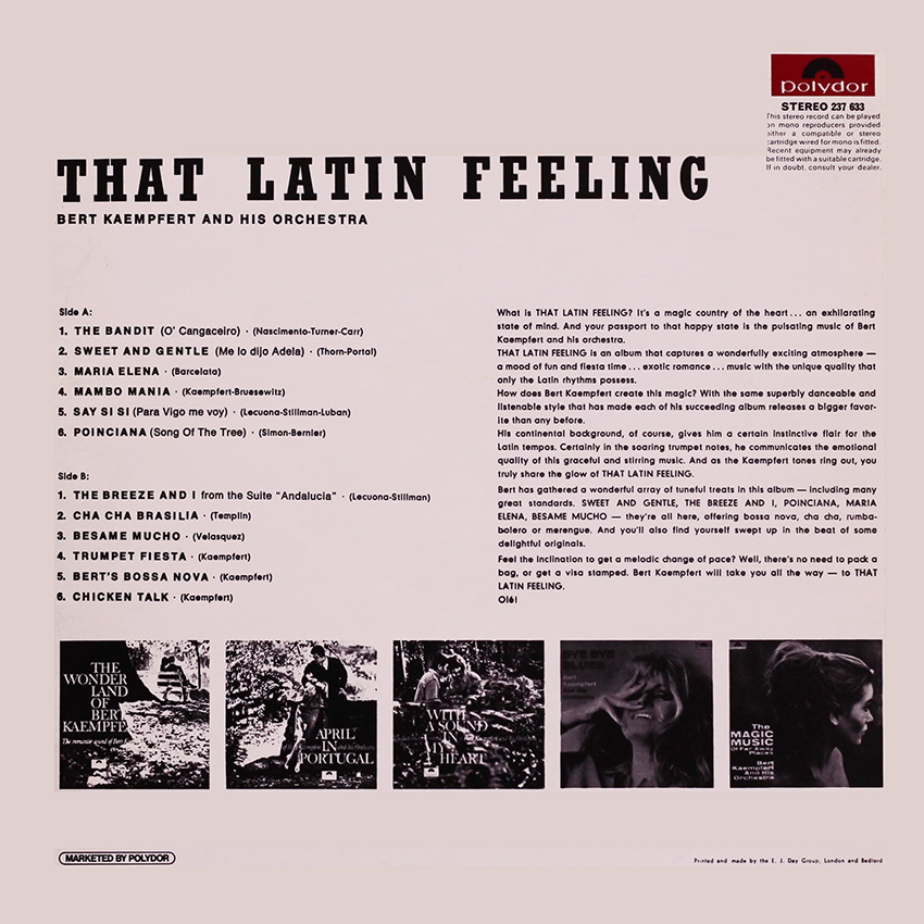 Bert Kaempfert - That Latin Feeling