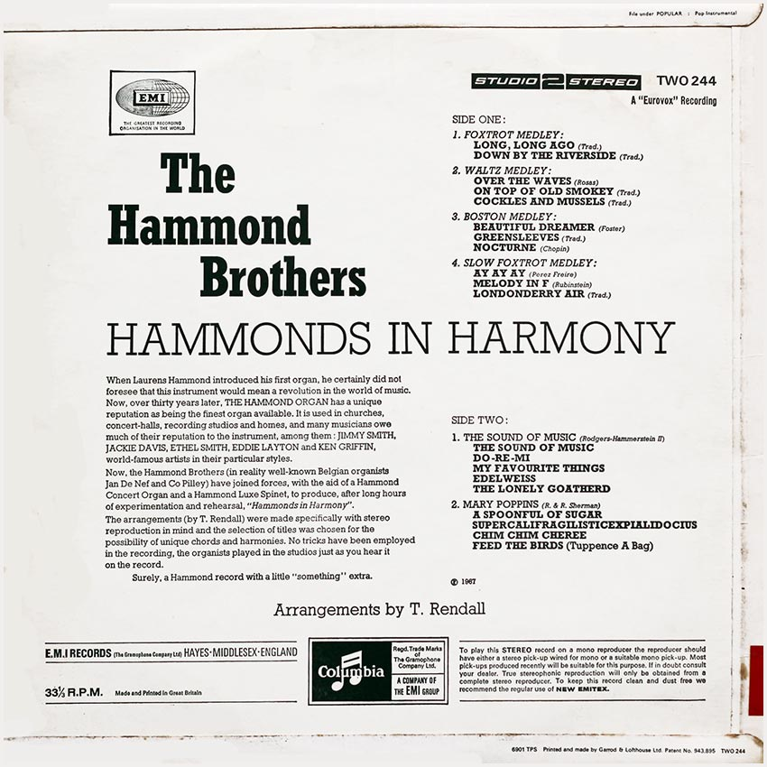 The Hammond Brothers - Hammonds In Harmony