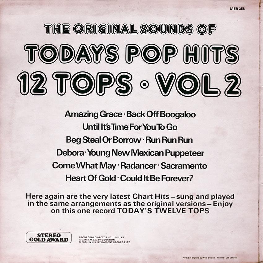 Today's Pop Hits 12 Tops Vol. 2