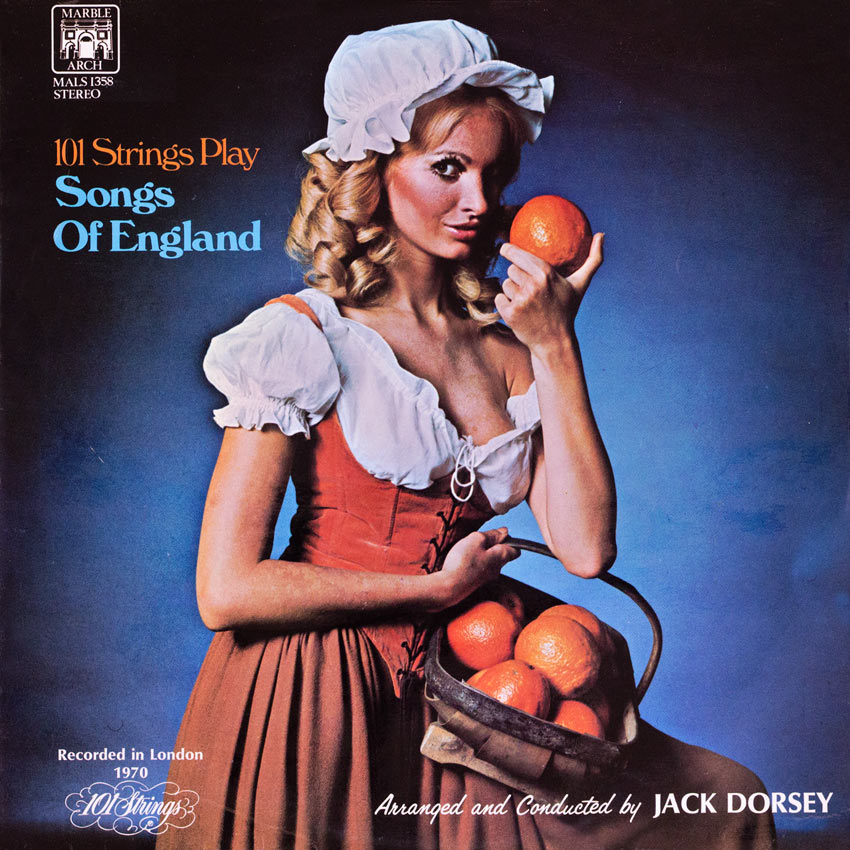 101 Strings - Play Songs of England - another sexy record cover from Cover Heaven