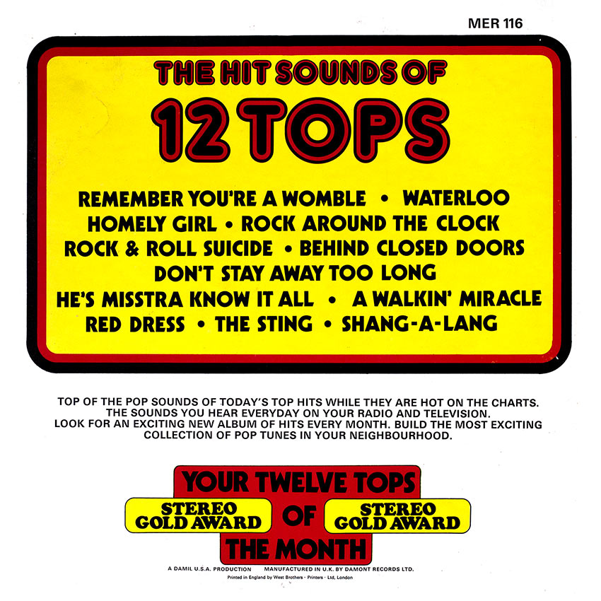 12 Tops Today's Top Hits Vol. 20