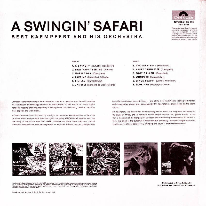 Bert Kaempfert and his Orchestra - A Swinging' Safari