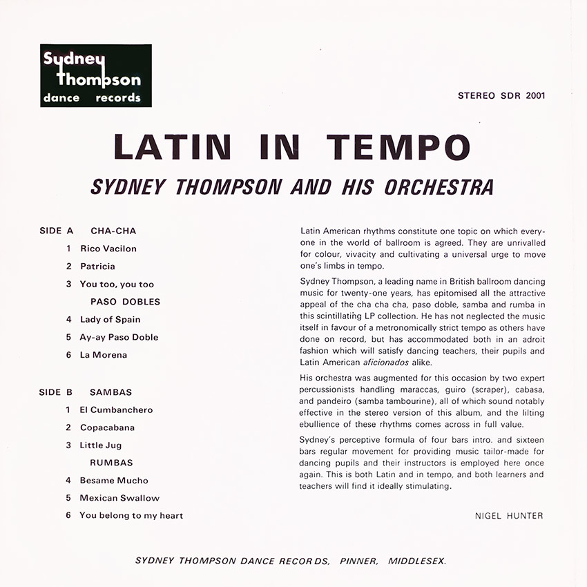 Sydney Thompson and his Orchestra - Latin in Tempo