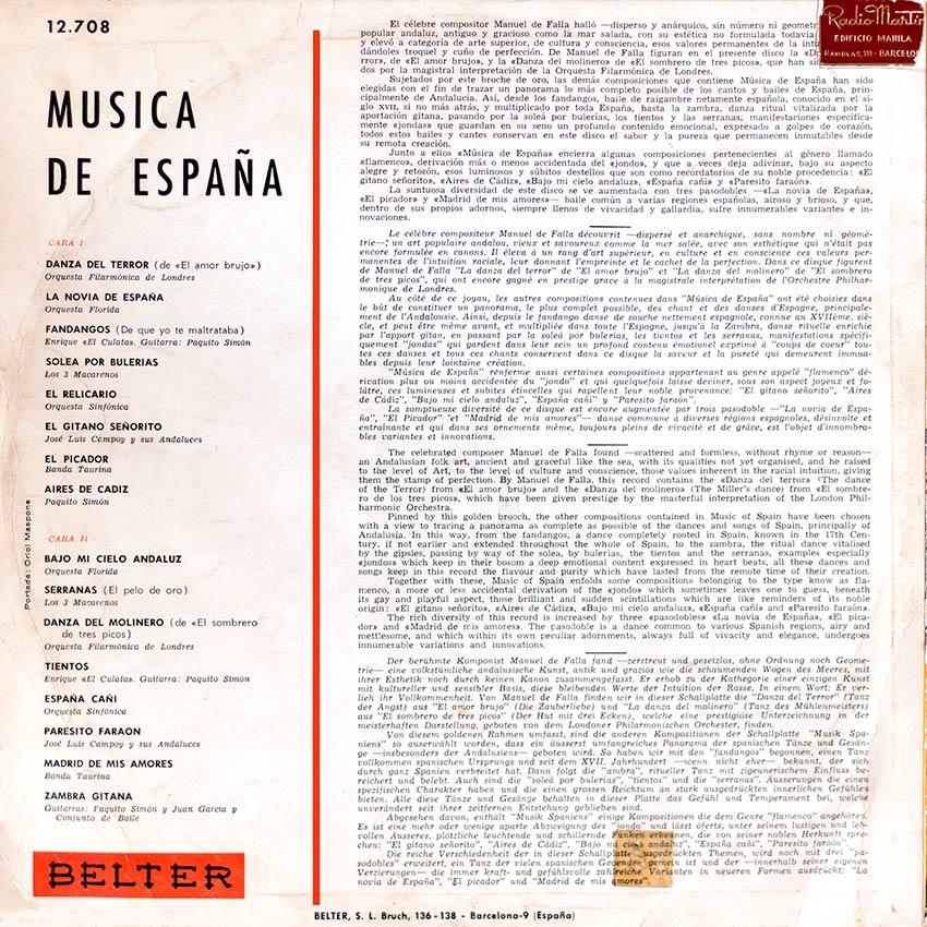 Música de España - Various Artists