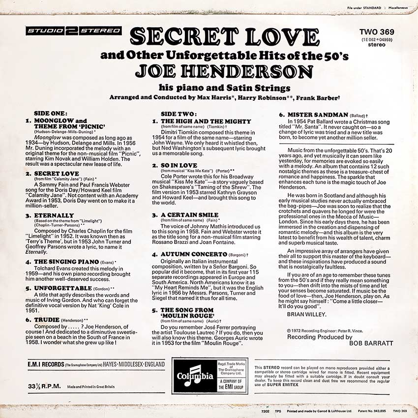 Joe Henderson - Secret Love