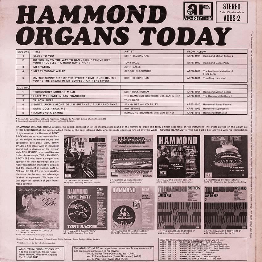 Hammond Organs Today