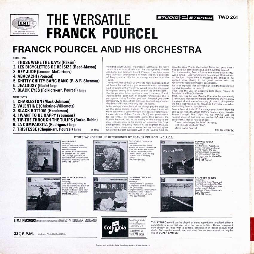 Franck Pourcel and His Orchestra - The Versatile Franck Pourcel