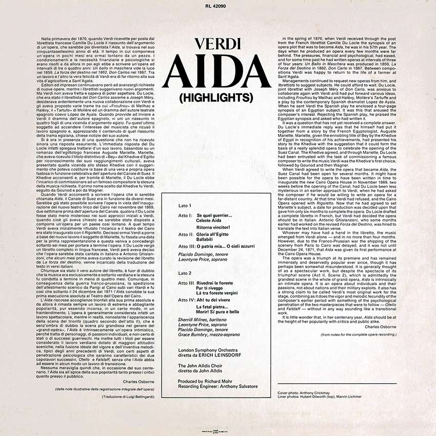 London Symphony Orchestra - Aida - Cover Heaven beautiful record covers
