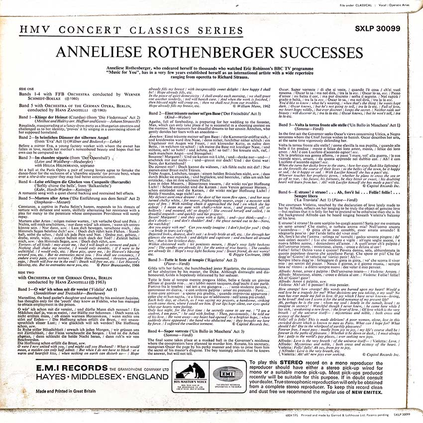 Anneliese Rothenberger - Successes - another beautiful album cover from Cover Heaven