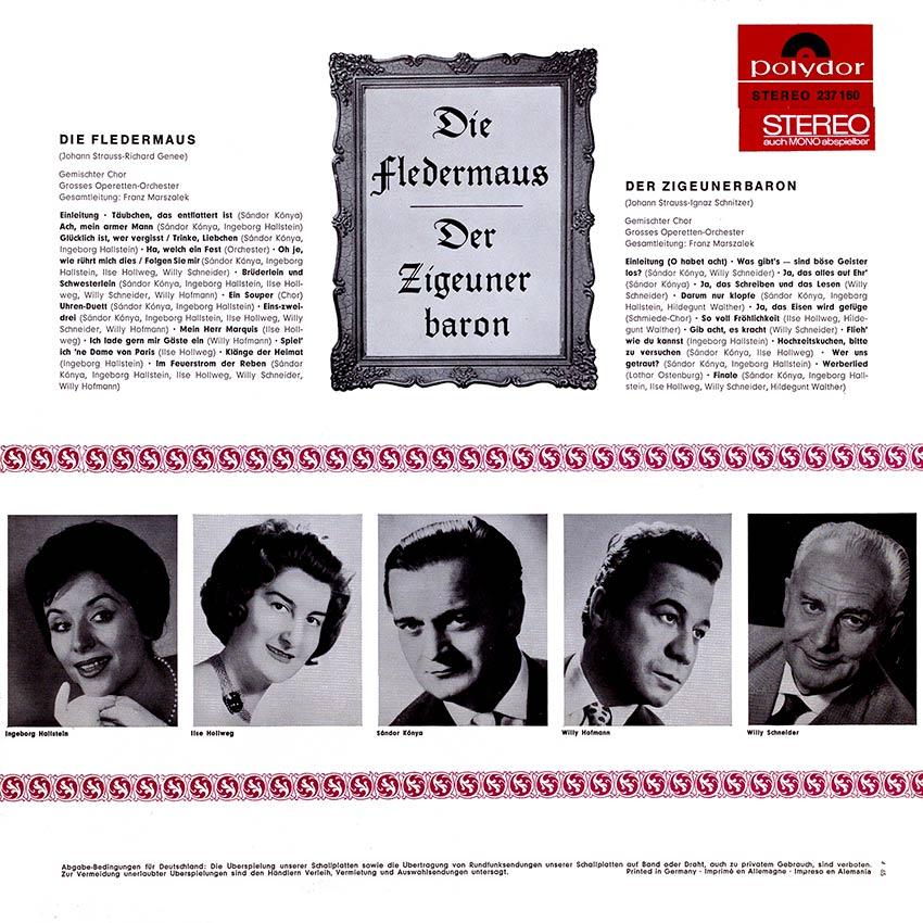 Various Artists – Die Fledermaus/Der Zigeunerbaron