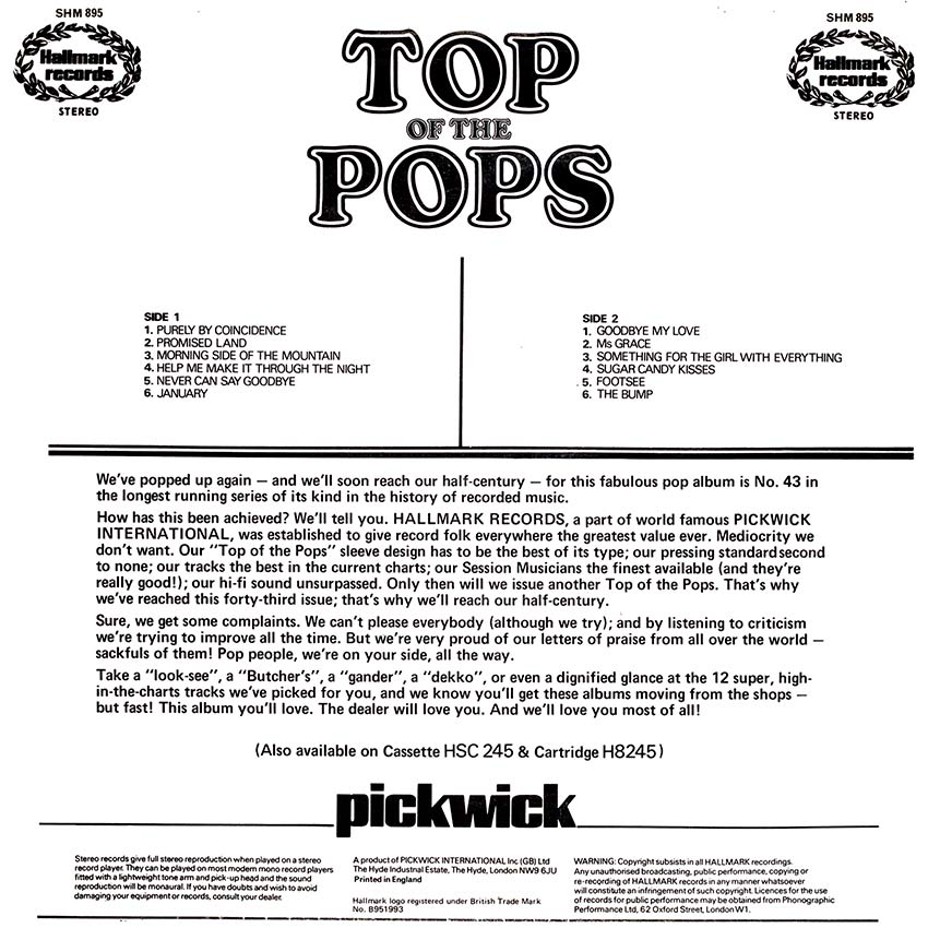 Top of the Pops Vol. 43 - another sexy record cover from Cover Heaven