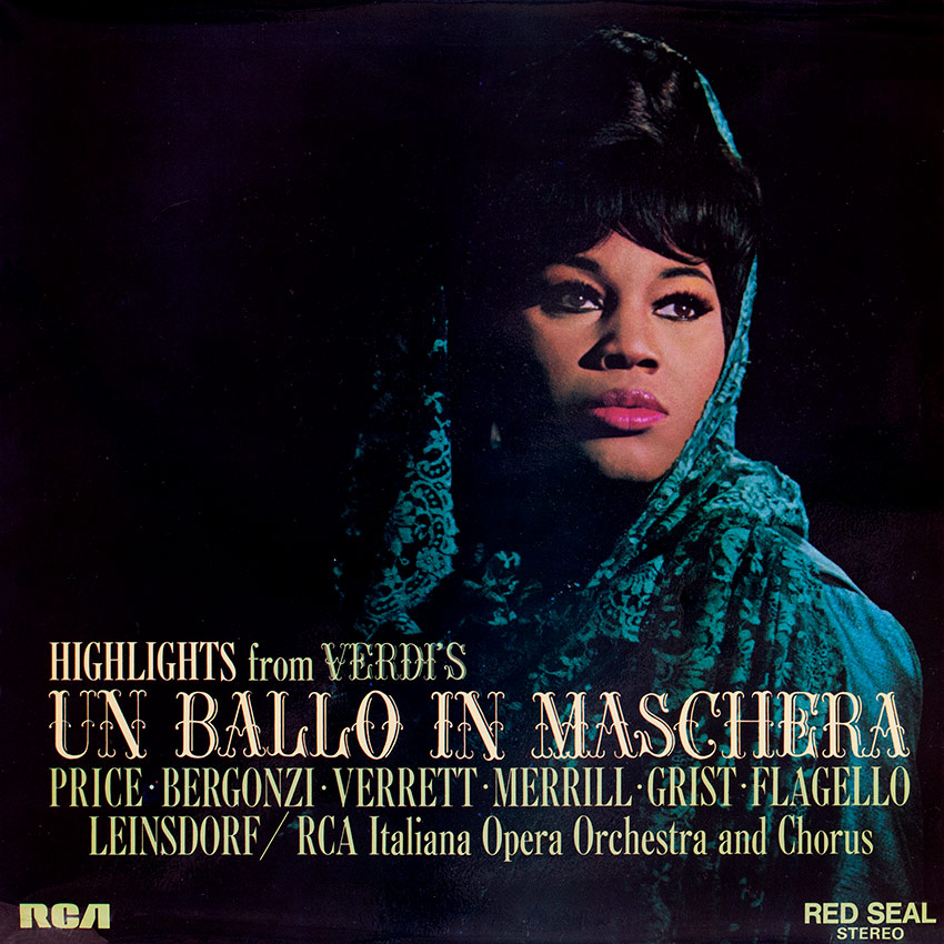 Verdi - Un Ballo In Maschera - another beautiful record cover from Cover Heaven