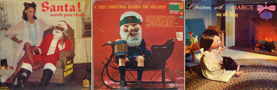 Awkward Vintage Christmas Album Covers