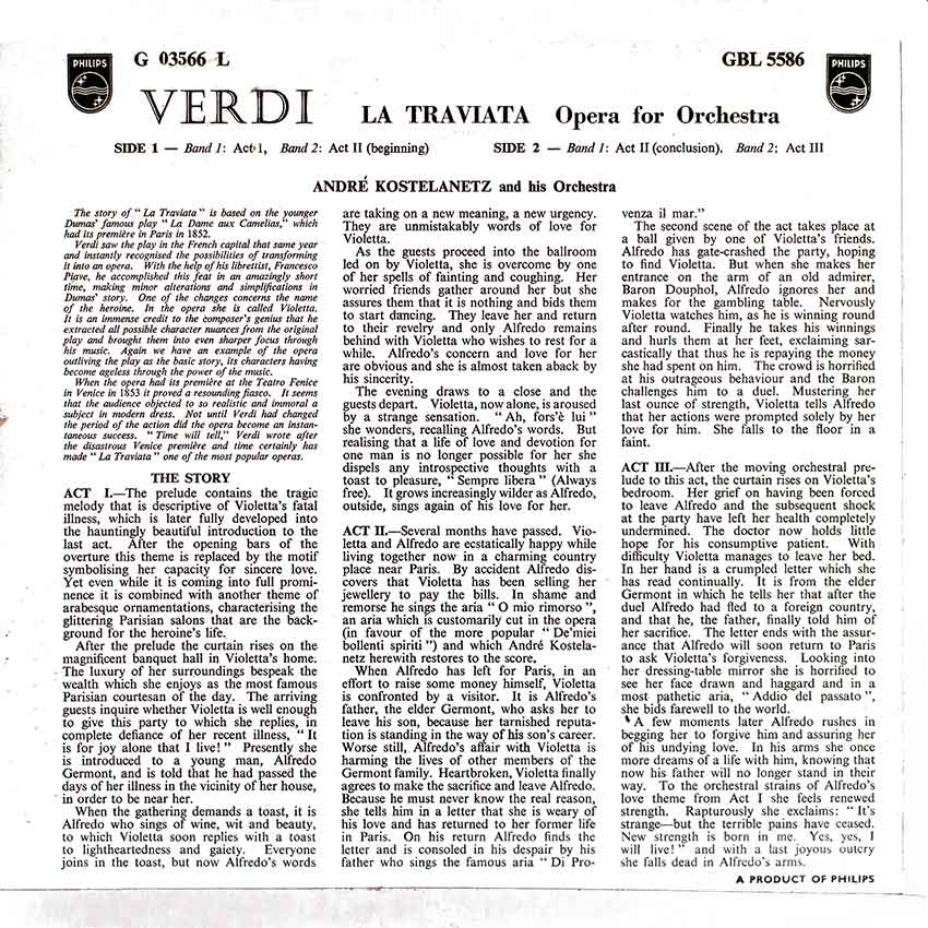 André Kostelanetz and his Orchestra - Verdi La Traviata