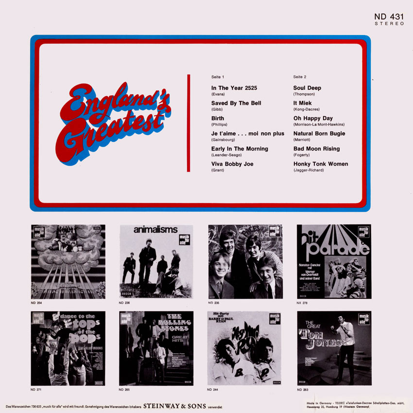 England's Greatest - Various Artists