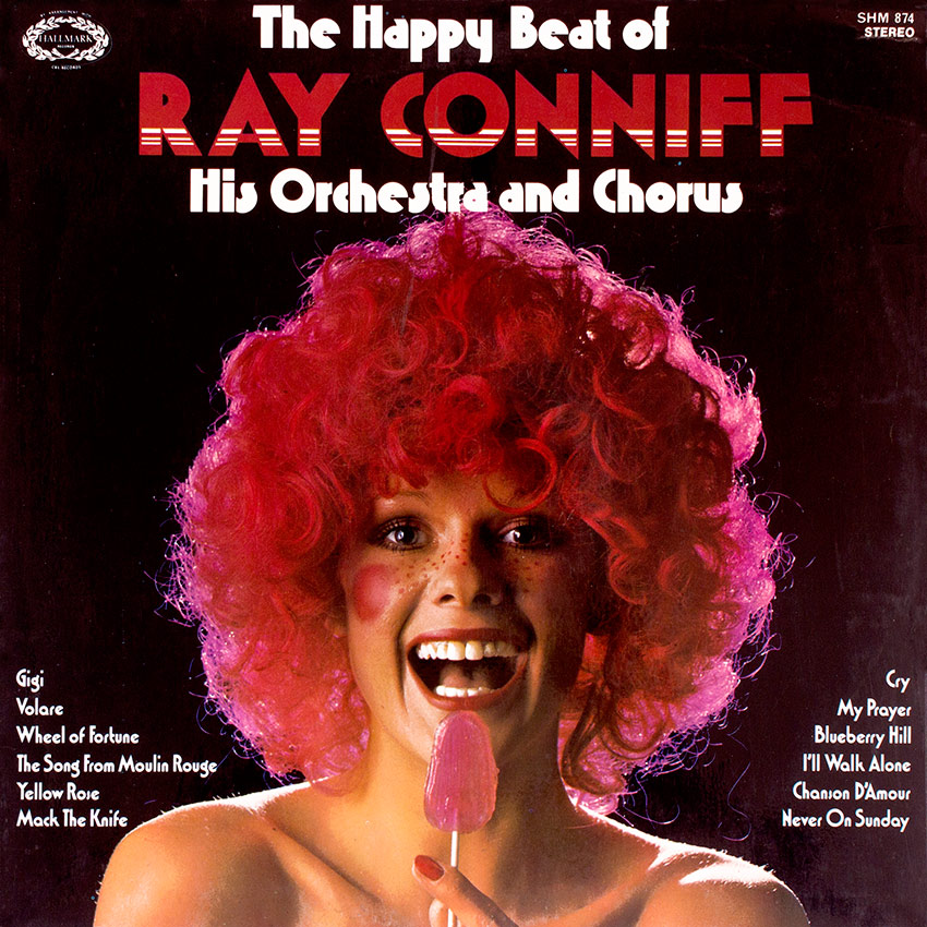 Ray Conniff His Orchestra and Chorus, The Happy Beat of - another sexy record cover from Cover Heaven, just one of hundreds to enjoy at Cover Heaven