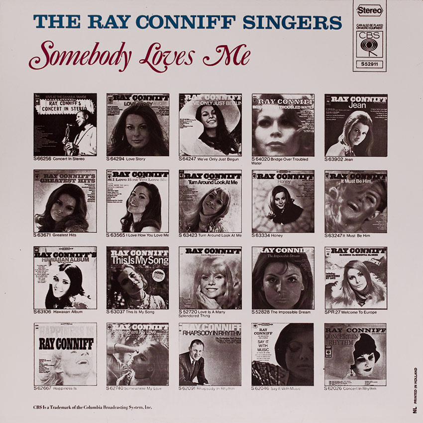 The Ray Conniff Singers - Somebody Loves Me - another in a long line of Ray Conniff gorgeous covers brought to you courtesy of Cover Heaven