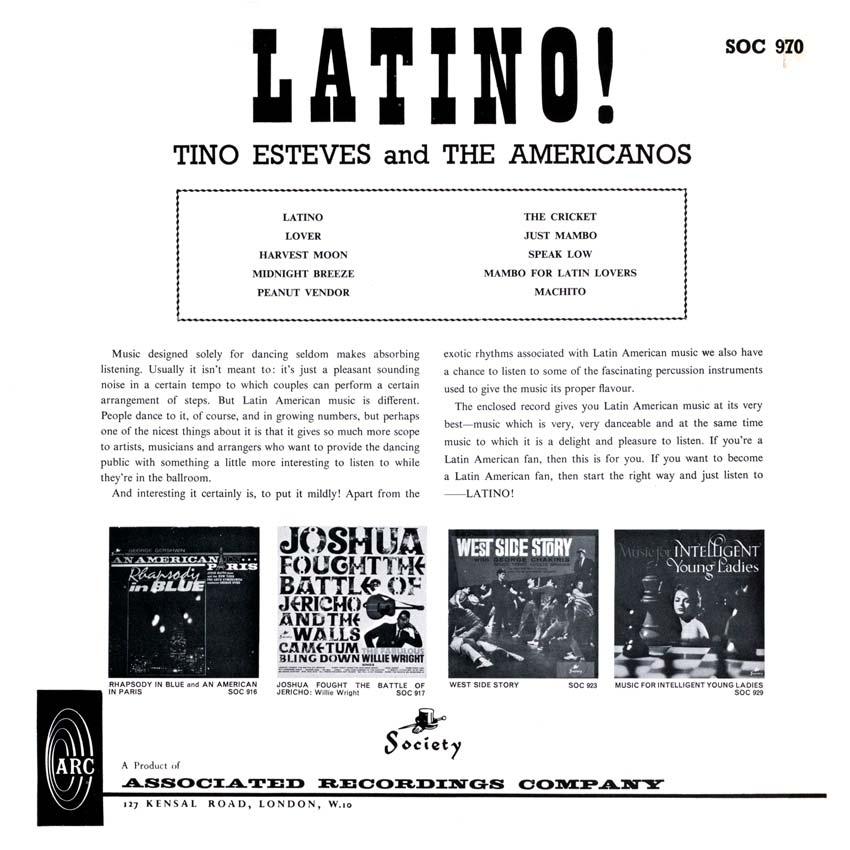 Tino Esteves and The Americanos - Latino!