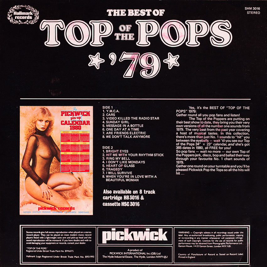 Top of the Pops Best of '79 - a saucy record cover from Cover Heaven