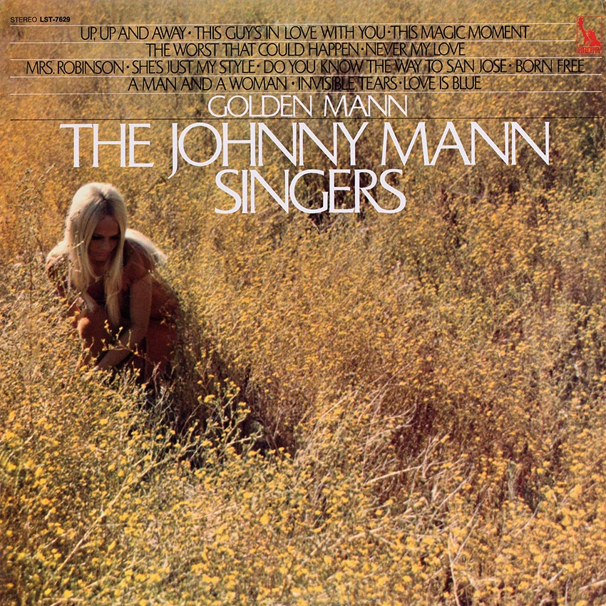 The Johnny Mann Singers - Golden Mann - another supreb album cover from Cover Heaven the home of beautiful record covers
