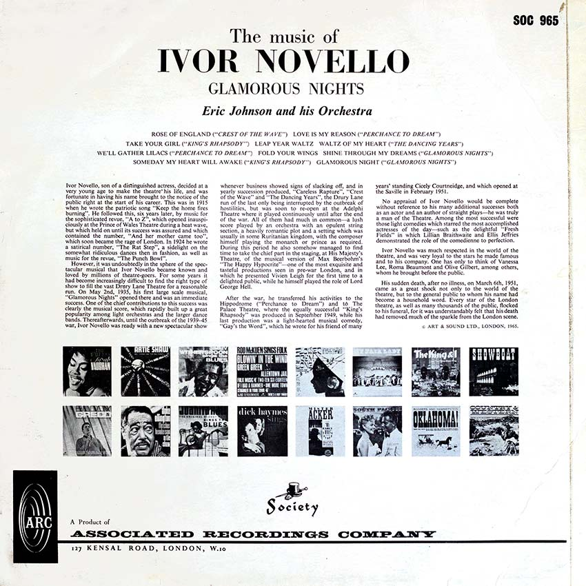 Eric Johnson and his Orchestra - The Music of Ivor Novello Glamorous Nights