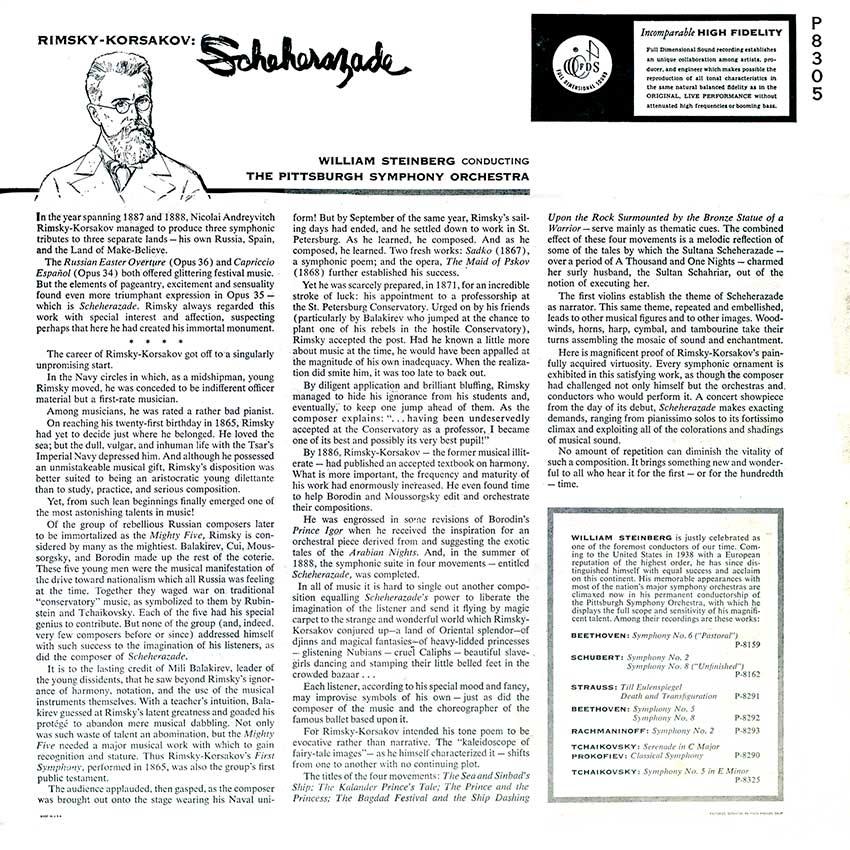 Rimsky Korsakov, The Pittsburgh Symphony Orchestra - Scheherazade