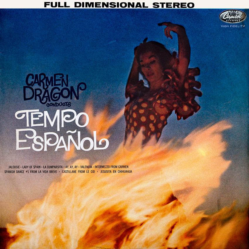 Carmen Dragon - Tempo Español - a super Spanish themese beautiful record cover from coverheaven.co.uk