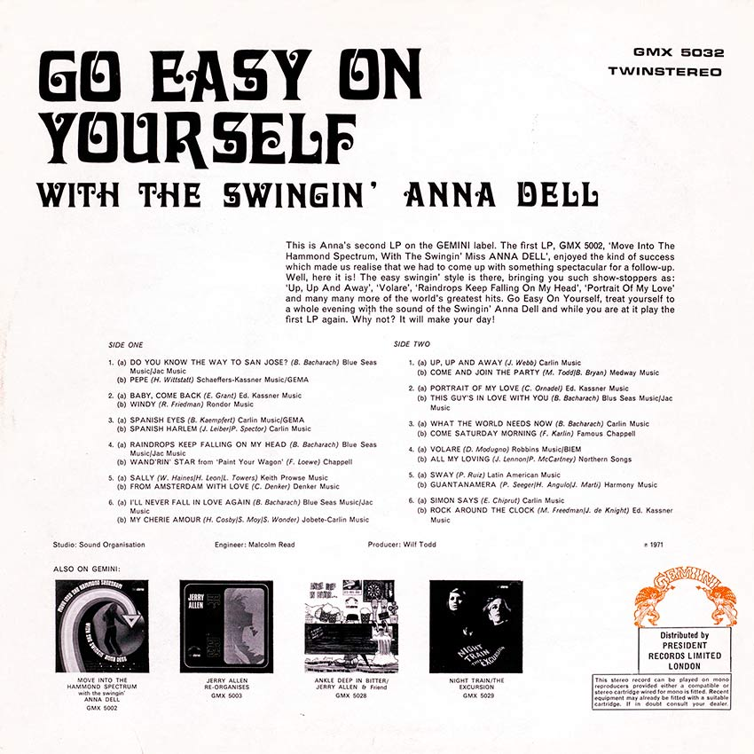 Go Easy On Yourself with the Swingin' Anna Dell