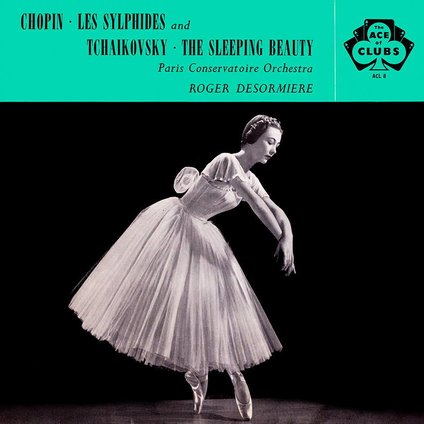 The Paris Conservatoire Orchestra - Chopin Les Sylphides - beautiful album cover from 1958, one of hundreds of beautiful record covers at coverheaven.co.uk