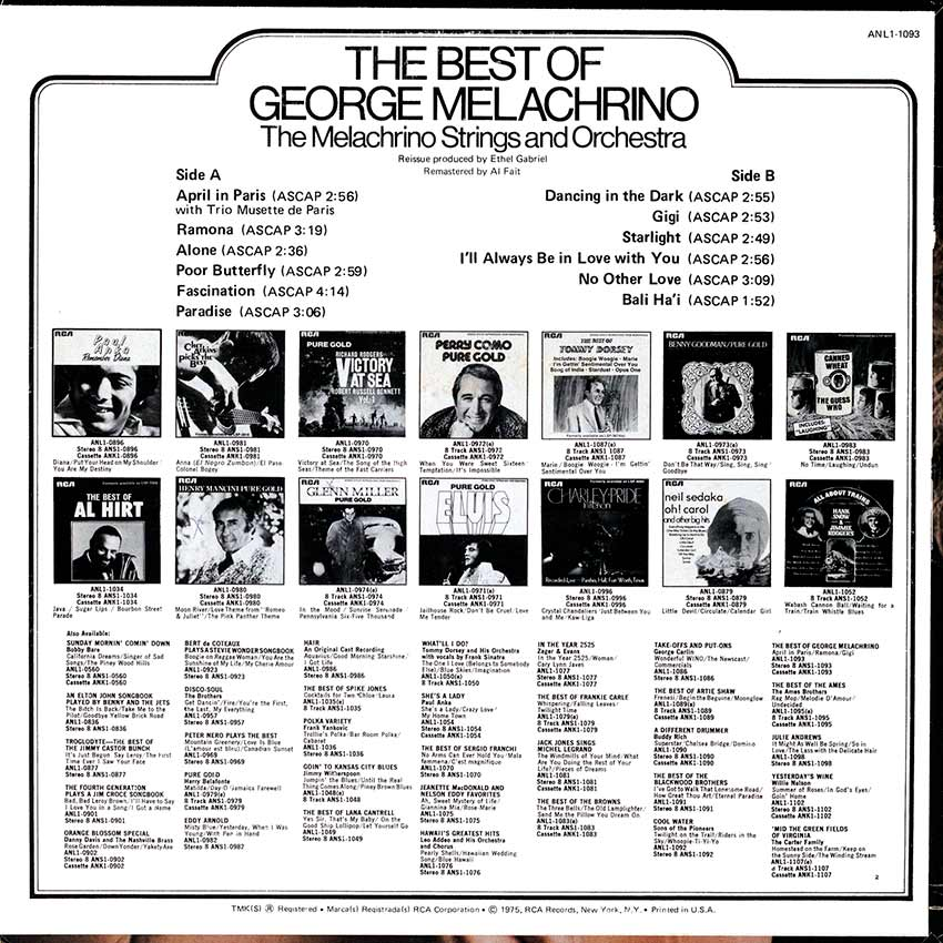The Melachrino Strings and Orchestra - The Best of George Melachrino