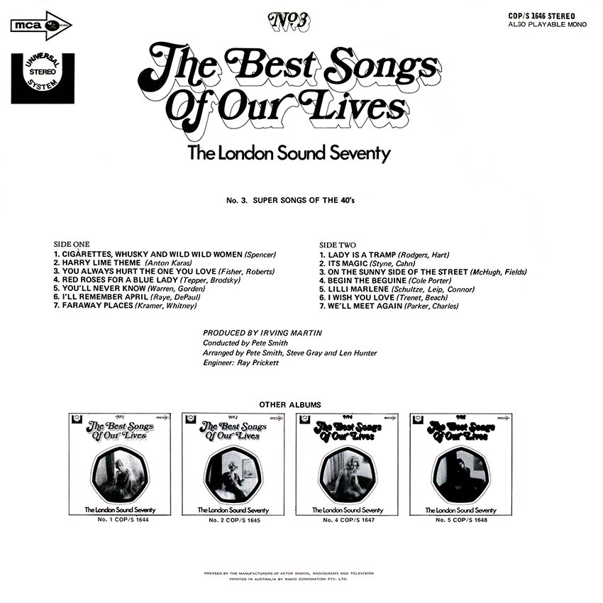 The London Sound Seventy - The Best Songs Of Our Lives No. 3