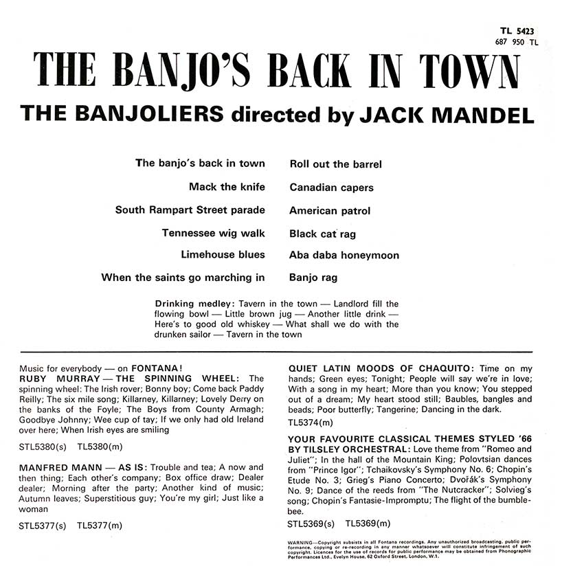 The Banjoliers directed by Jack Mandel - The Banjo's Back In Town