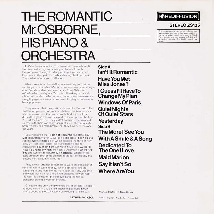The Romantic Mr.Osborne, His Piano & Orchestra